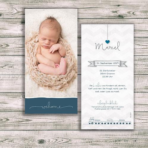 Geburtskarte Marcel