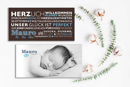 Geburtskarte Mauro