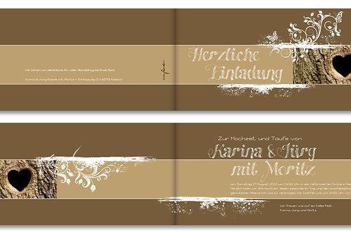 Hochzeitskarte Karina-Jürg