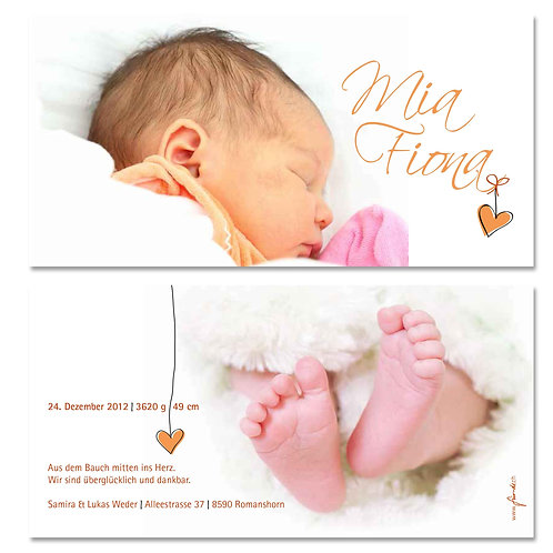 Geburtskarte Mia