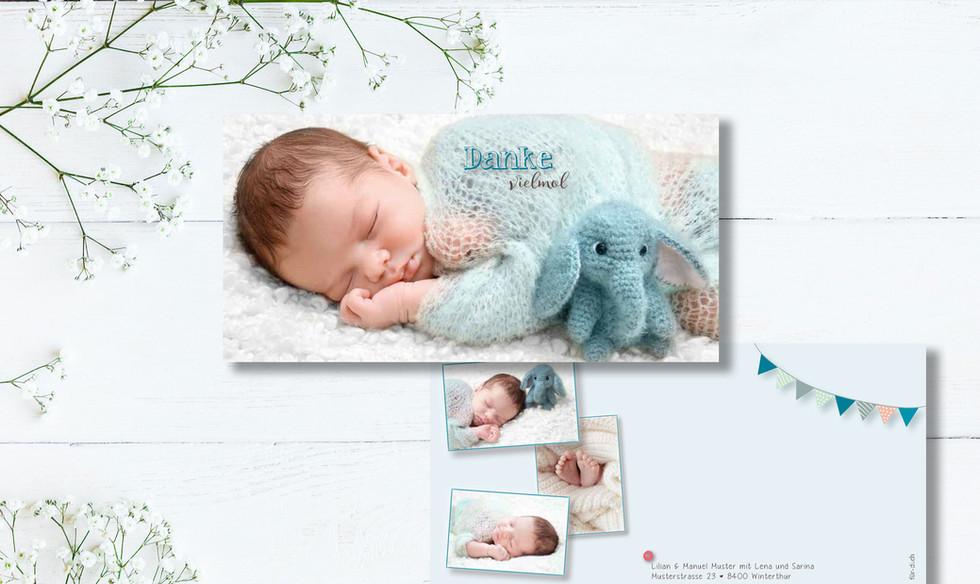 Geburtskarten, Hochzeitskarten, Dankeskarten, Dankeskarte Patryk  | Schweiz | online bestellen