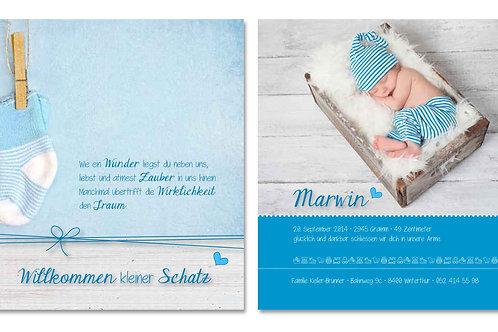 Geburtskarte Marwin