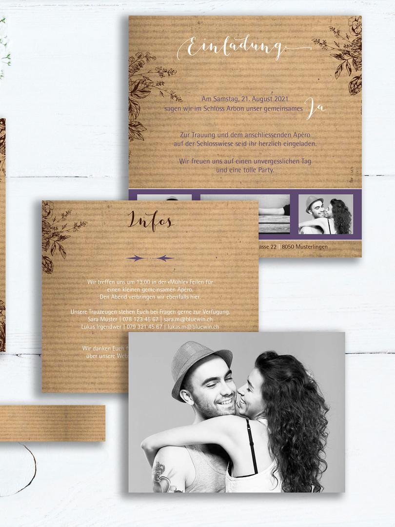 Hochzeitskarten mit Schuber von fuer-di.ch