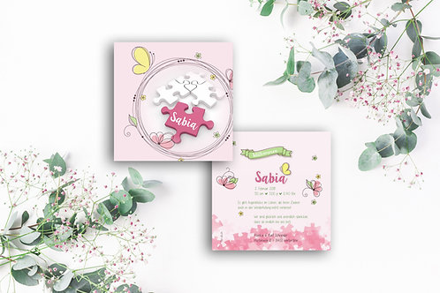 Geburtskarte Sabia
