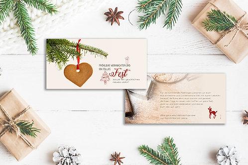 "Weihnachtskarte ""Bambi"""