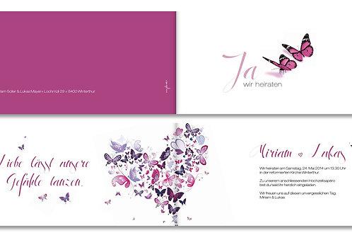 Hochzeitskarte Miriam-Lukas
