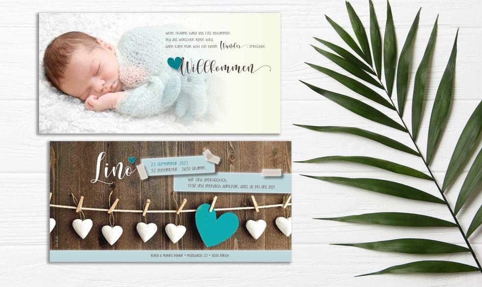 Geburtskarten mit Herz online bestellen Schweiz