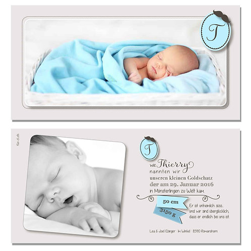 Geburtskarte Thierry