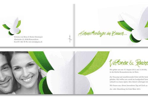 Hochzeitskarte Victoria-Rainer