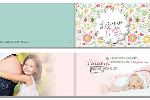 Geburtskarte Laiana