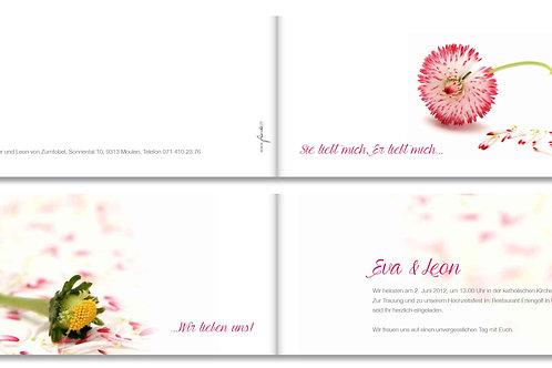 Hochzeitskarte Eva-Leon