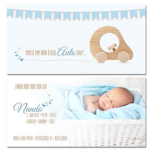 Geburtskarte Nando