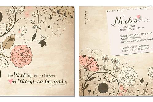 Geburtskarte Noelia