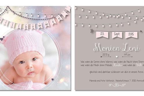 Geburtskarte Monica Leni