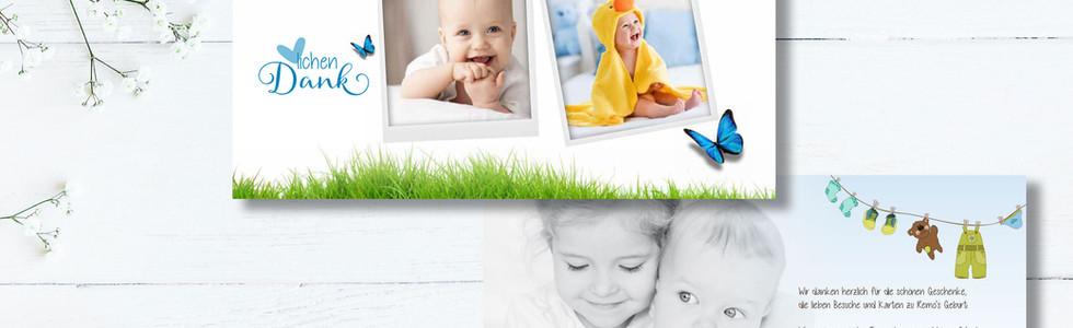 Geburtskarten, Hochzeitskarten, Dankeskarten, Dankeskarte Remo  | Schweiz | online bestellen