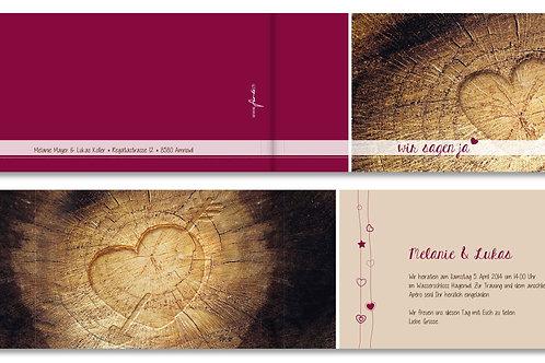Hochzeitskarte Melanie-Lukas