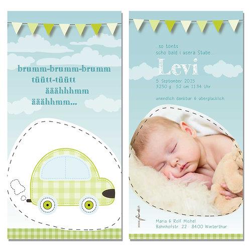 Geburtskarte Levi