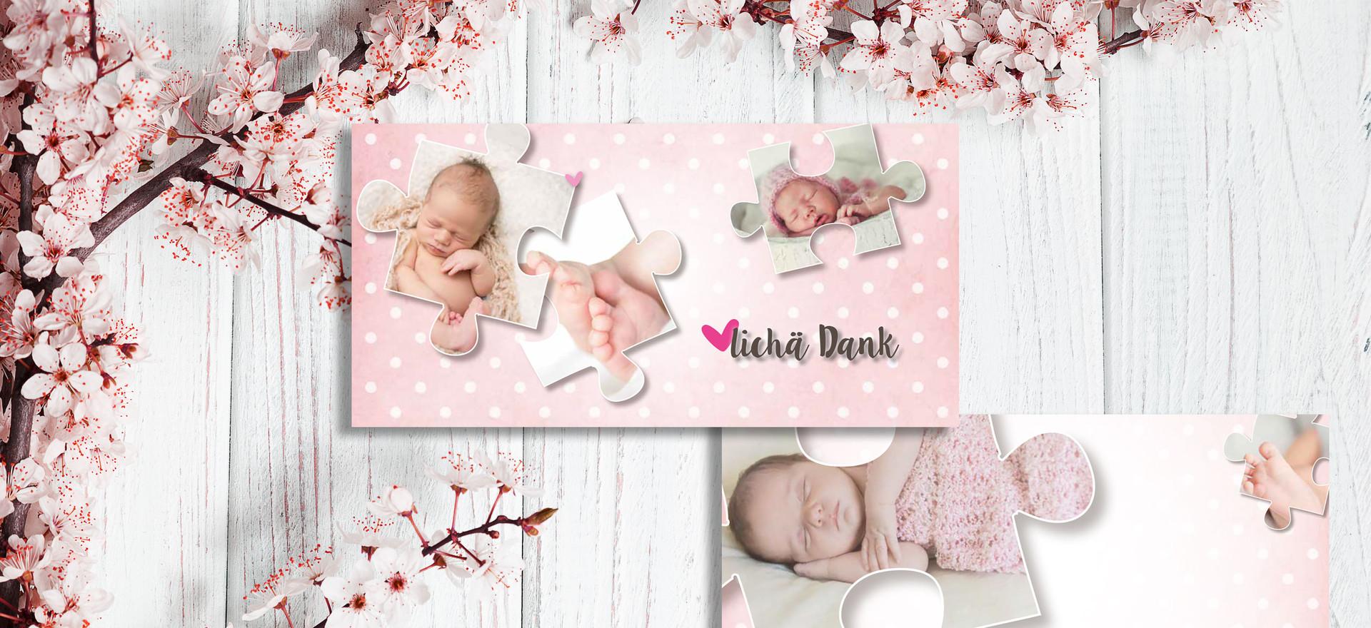 Geburtskarten, Hochzeitskarten, Dankeskarten, Dankeskarte Lola | Schweiz | online bestellen