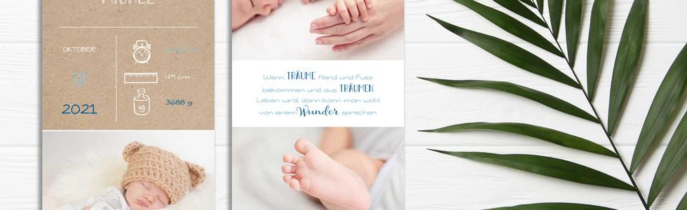 liebevolle Geburtskarte online bestellen Schweiz