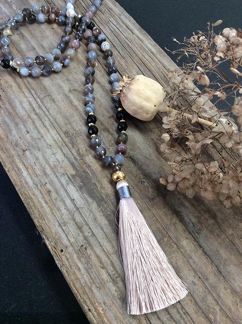 """Jaipur Halskette """"Botswana Achat"""""""