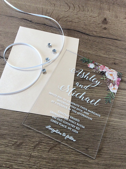 Hochzeitskarte Acryl UV-Druck