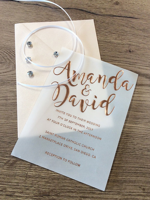 Hochzeitskarte mit Folienprägung