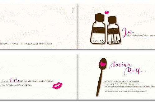 Hochzeitskarte Sarina-Ralf