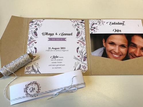 Hochzeitskarte Maya - Samuel