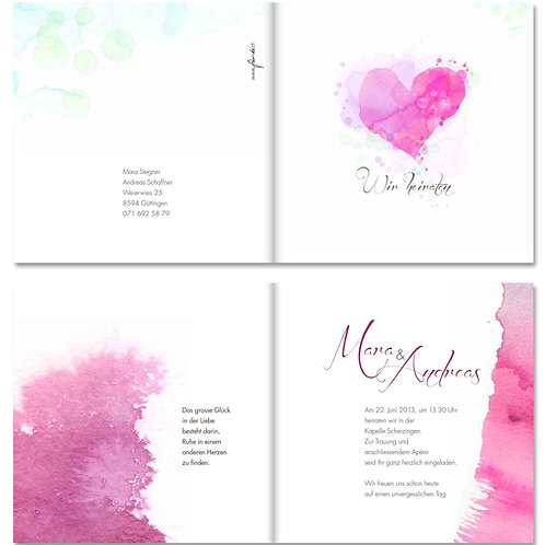Hochzeitskarte Mara-Andreas