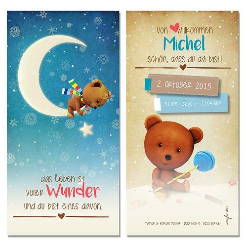 Geburtskarte Michel