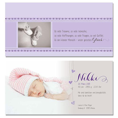 Geburtskarte Nikki