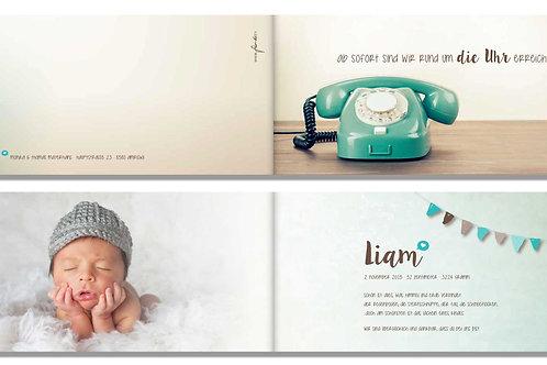 Geburtskarte Liam