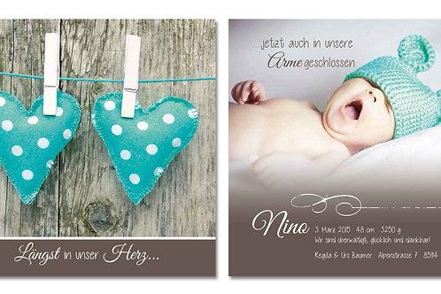 Geburtskarte Nino