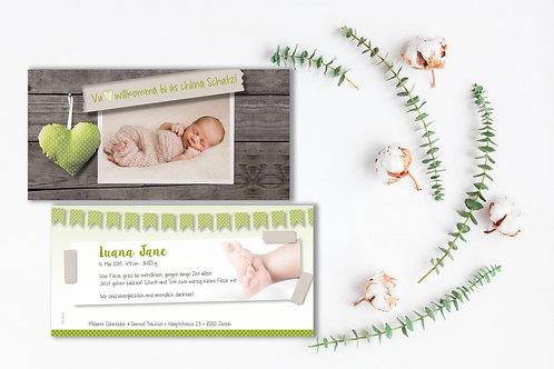 Geburtskarte Luana Jane