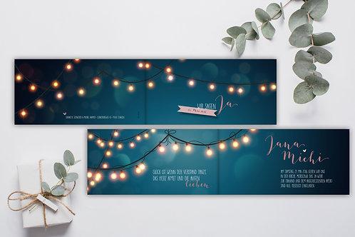 Hochzeitskarte Jana-Michi