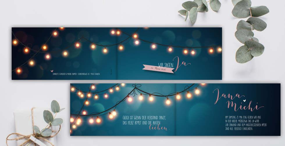 Individuelle Hochzeitskarten gestalten, Hochzeitskarte Jana-Michi l online l Schweiz