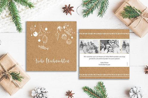 """Weihnachtskarte """"Girlande"""""""