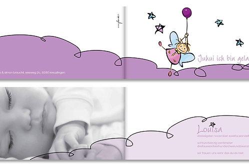 Geburtskarte Louisa