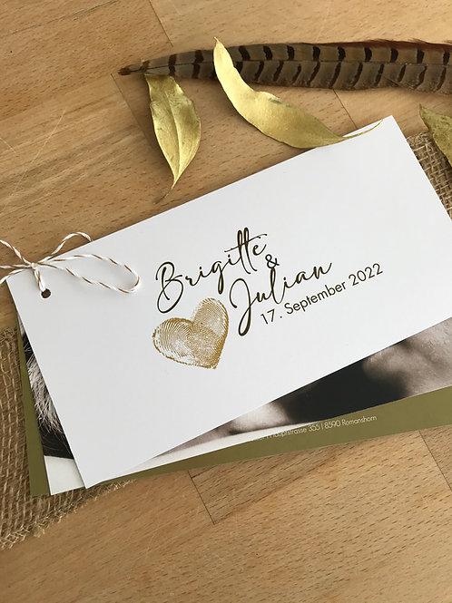 Hochzeitskarte Brigitte Julian