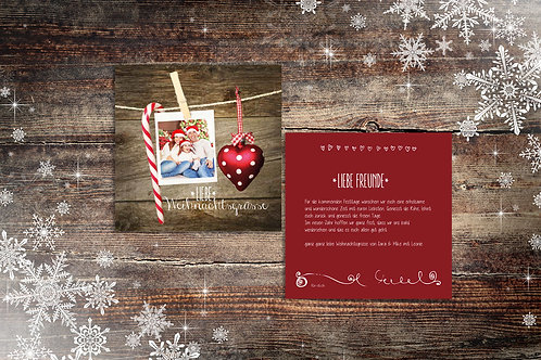 """Weihnachtskarte """"Lilly"""""""