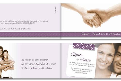 Hochzeitskarte Regula-Florin