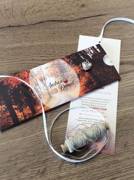 besondere Hochzeitskarten mit Schuber