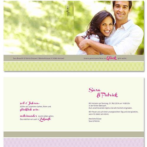 Hochzeitskarte Sara-Patrick