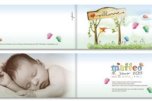 Geburtskarte Matteo