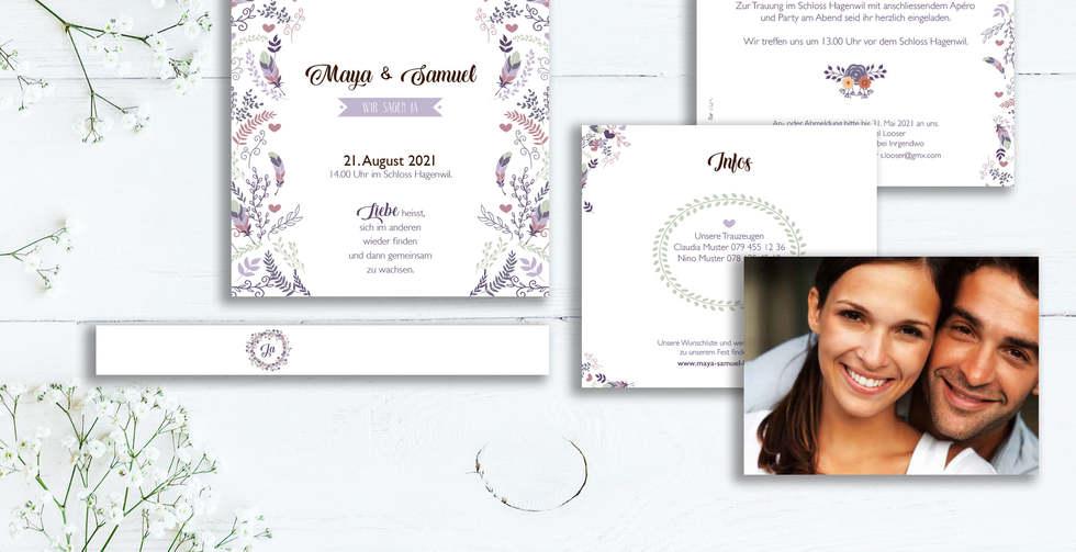 Hochzeitseinladung für Ihren Traumtag von fuer-di.ch