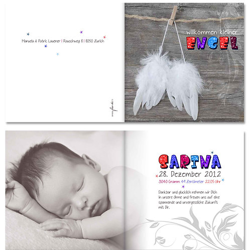Geburtskarte Sarina