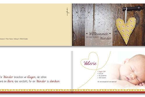 Geburtskarte Valerie