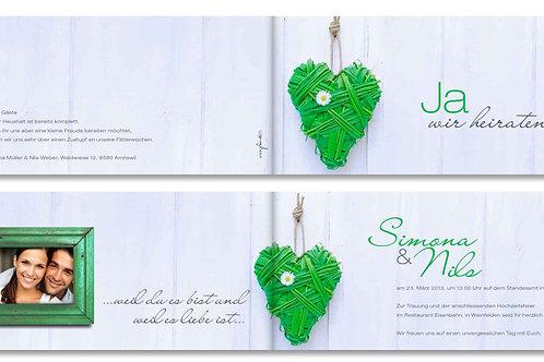 Hochzeitskarte Simona-Nils