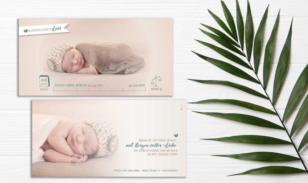 zauberhafte Geburtskarte schweiz online bestellen