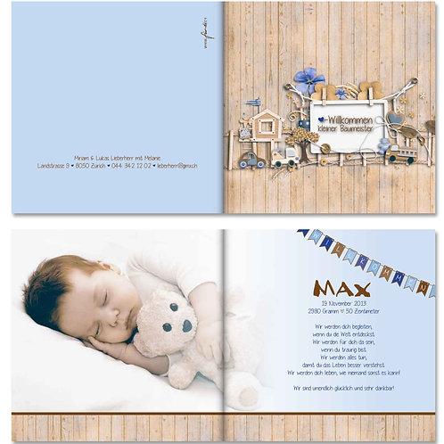 Geburtskarte Max